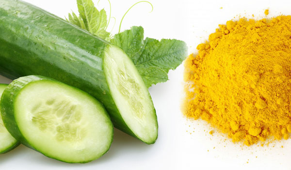 Turmeric and Cucumber - How to Get Rid of Dark Underarms