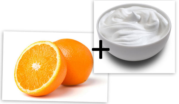 Yogurt and Orange - Home Remedies for Blackheads