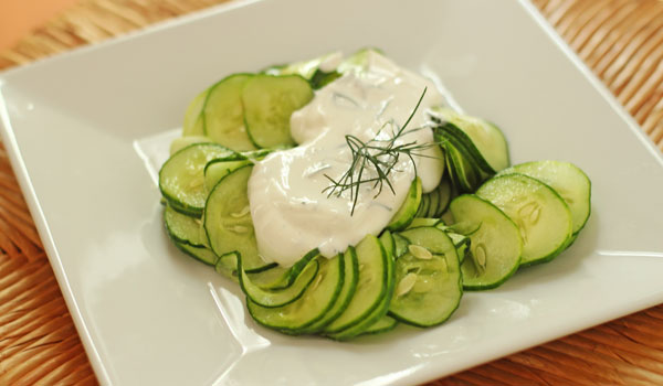 Cucumber and Yogurt - Home Remedies for Blackheads