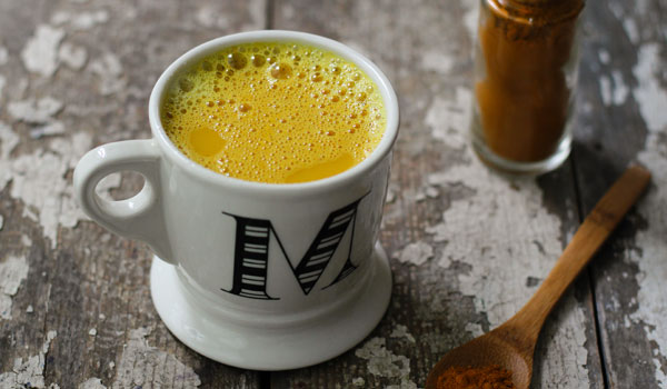Hot Milk with Turmeric - Home Remedies for Croup