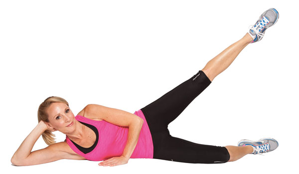 Side leg raise - How to Tone Your Hips and Thighs