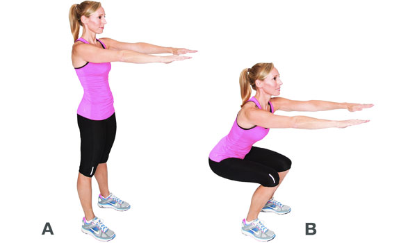 Squats - How to Tone Your Hips and Thighs