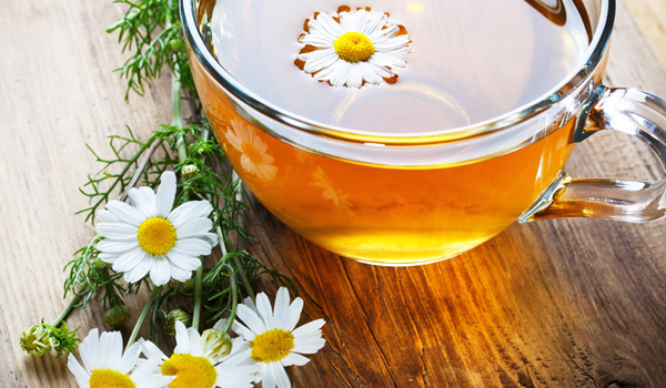Chamomile Tea - Home Remedies for Excessive Sweating