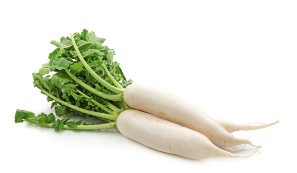 White Radish - Home Remedies for Foot Odor