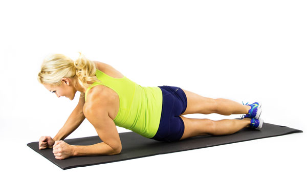 Hip Twist Plank - How to Get Rid of Back Fat Fast
