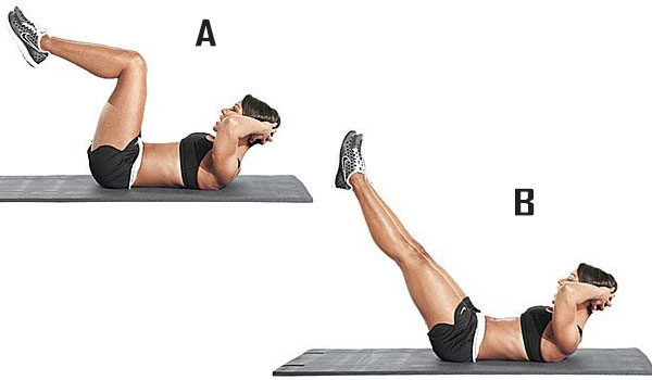 Low-belly Leg Reach - How to Lose Belly Fat
