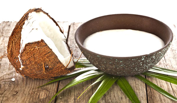 coconut-milk -How to Straighten Hair Without Heat