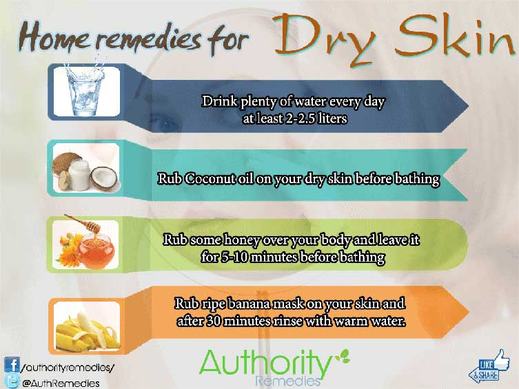Dry Skin Natural Treatments – 4 Effective Tips (Infographic)