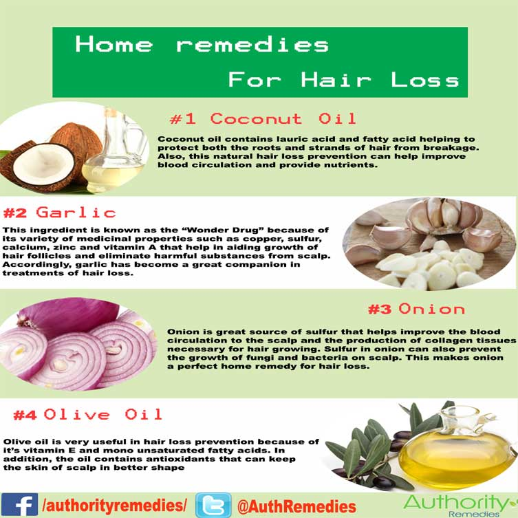 Hair Loss Natural Treatment – Top 4 Simple Tips (Infographic)