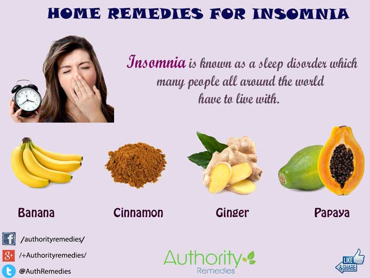 Insomnia Natural Treatments – Top 4 Simple Home Remedies (Infographic)