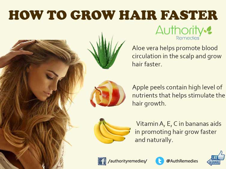 How to Grow Hair Faster – Top 3 Simple Tips (Infographic)