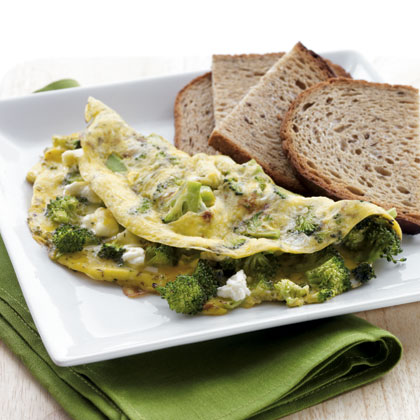 Breakfast: Feta and Broccoli Omelet